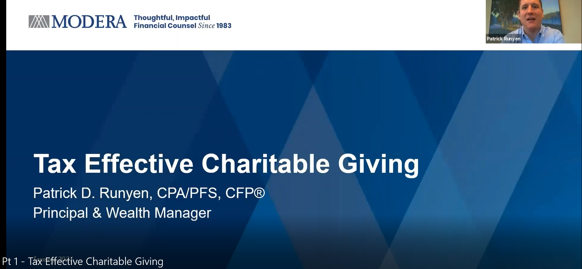 Tax Effective Charitable Giving