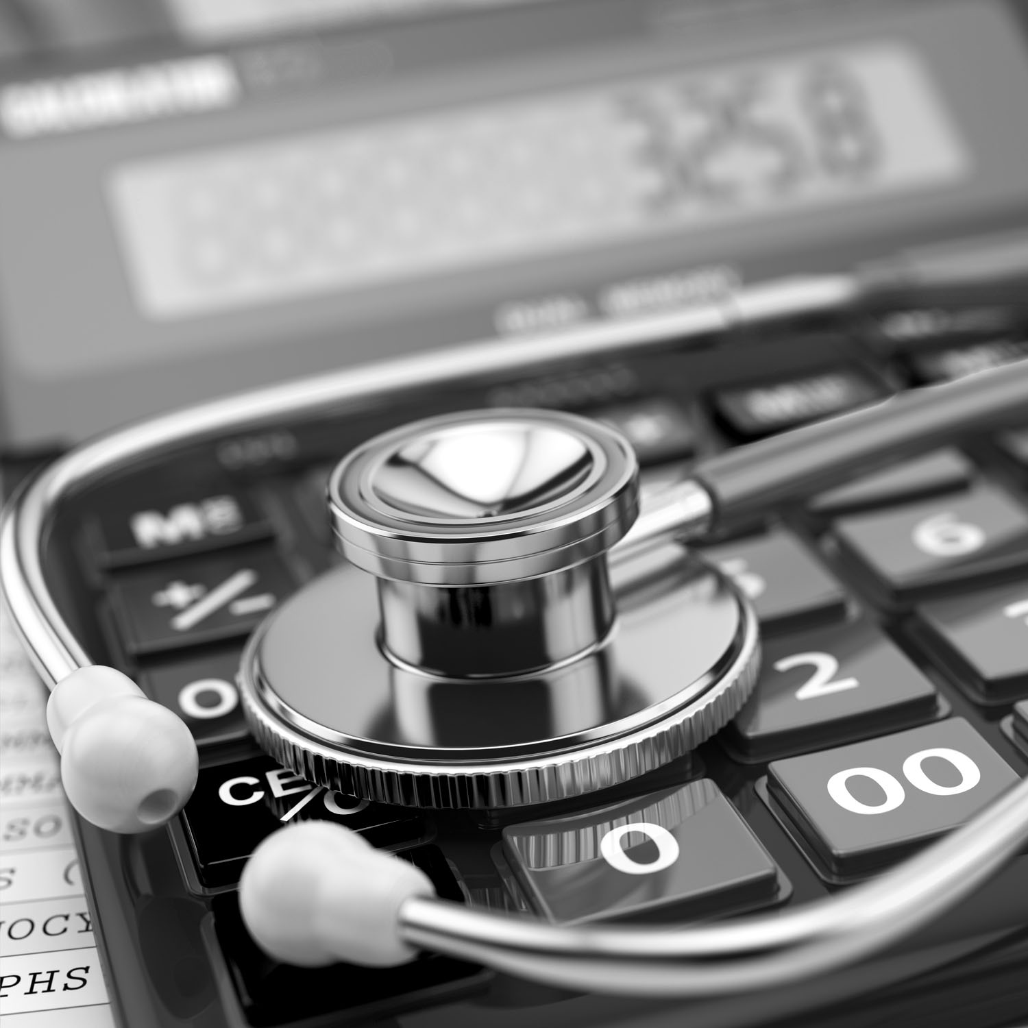Calculator and stethoscope cropped